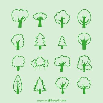 Pack de bocetos de árboles