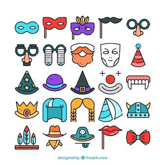 Pack de bocetos de elementos de carnaval