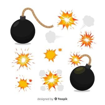 Pack de bombas y efectos de explosión.