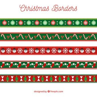 Pack de bonitos bordes decorativos navideños