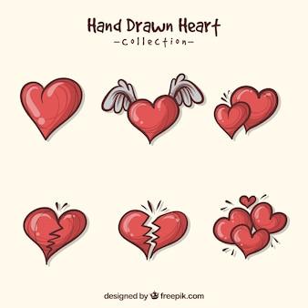 Pack de bonitos corazones
