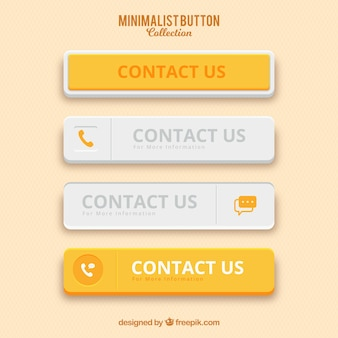 Pack de botones minimalistas de color amarillo