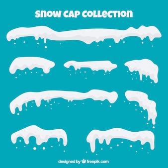 Pack de capas de nieve en estilo flat