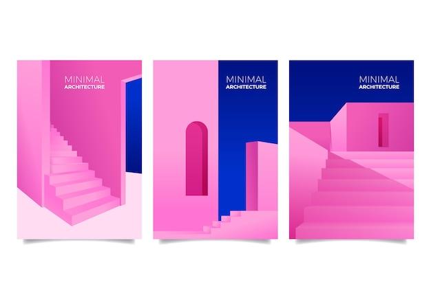 Pack de carátulas de arquitectura mínima