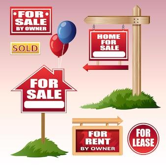 Pack de carteles de venta inmobiliaria