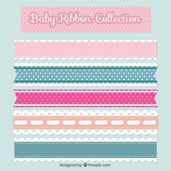 Pack de cinco cintas planas de bebé
