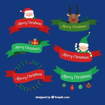 Pack de cintas navideñas con elementos