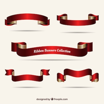 Pack de cintas navideñas rojas