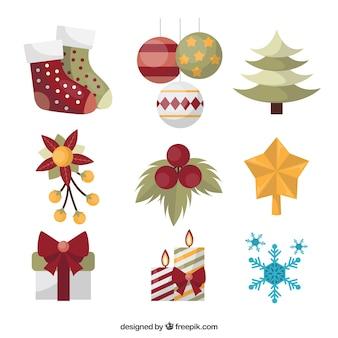 Pack clásico de adornos de navidad