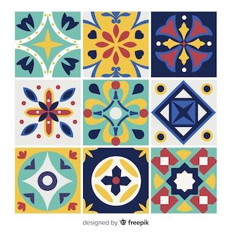 Pack colorido creativo de azulejos