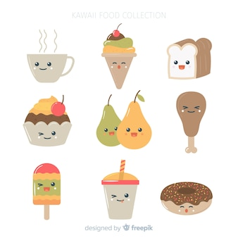 Pack de comida sonriente kawaii
