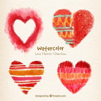 Pack de corazones pintados a mano