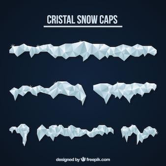 Pack de cristales de nieve
