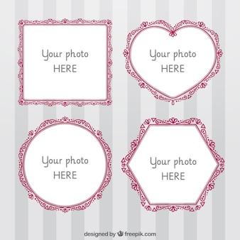 Pack de cuatro marcos de fotos ornamentales