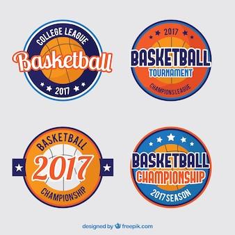 Pack de cuatro pegatinas de torneo de baloncesto 2017
