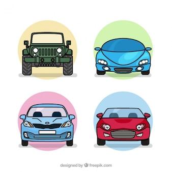 Pack de cuatro tipos de coches