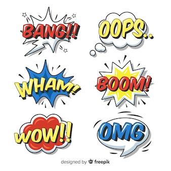 Pack de burbujas de texto de cómic