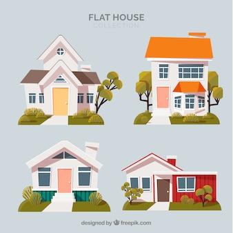 Pack de cuatro casas