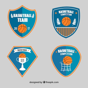 Pack de escudos de baloncesto