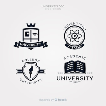 Pack de logotipos flat de universidad