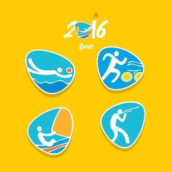 Pack de deportes olímpicos en diseño abstracto