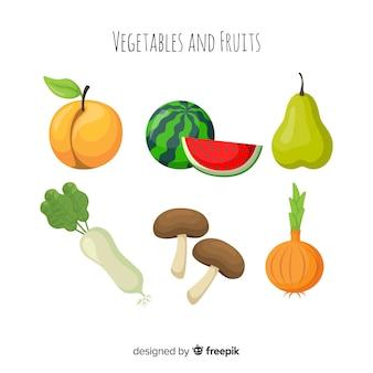 Pack diferentes frutas y verduras