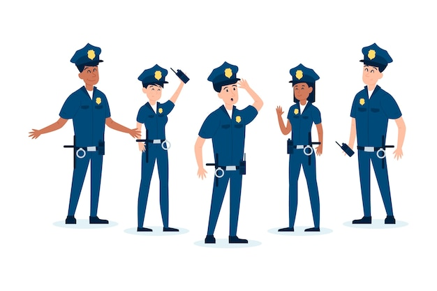Pack de diferentes policías