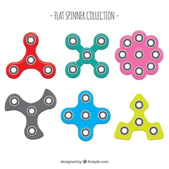 Pack de diferentes spinners de colores