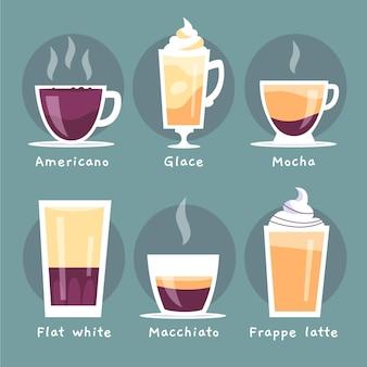 Pack de diferentes tipos de café.