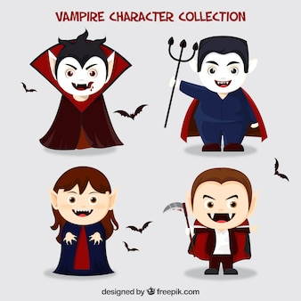 Pack de divertidos de vampiros de halloween