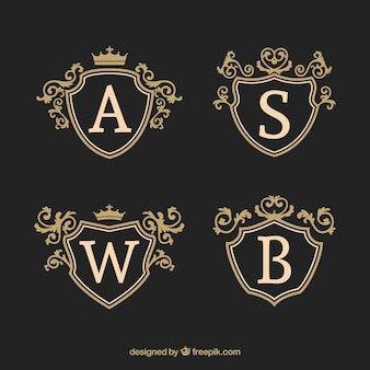 Pack elegante de plantillas de logos vintage