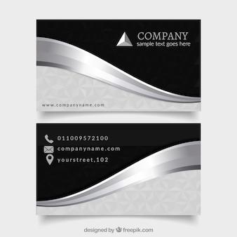 Pack elegante de tarjetas plateadas profesionales