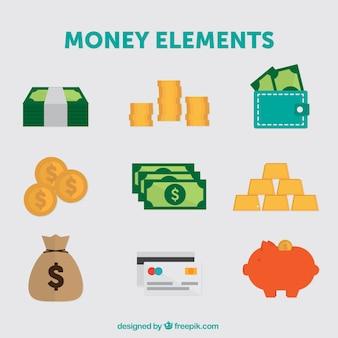 Pack de elementos de dinero