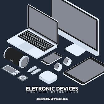 Pack de elementos electrónicos en perspectiva