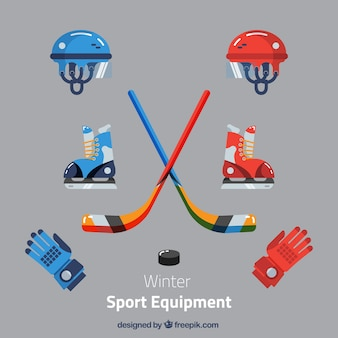 Pack de elementos de hockey