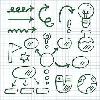 Pack de elementos de infografía escolar