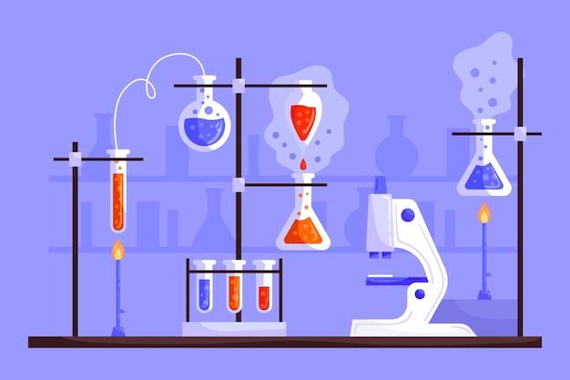 Pack de elementos del laboratorio de ciencias