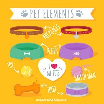 Pack de elementos de mascotas