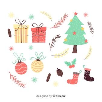 Pack de elementos de navidad