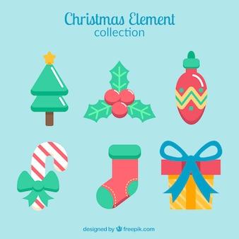 Pack de elementos navideños decorativos