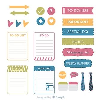 Pack de elementos de planificación modernos