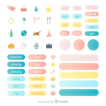 Pack de elementos de planificación