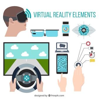 Pack de elementos de realidad virtual