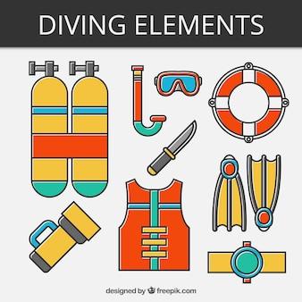 Pack de elementos de submarinismo lineal