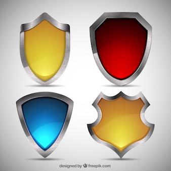 Pack de escudos de metal