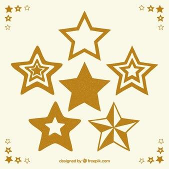 Pack de estrellas doradas