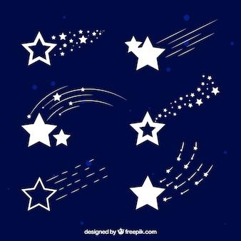 Pack de estrellas fugaz blancas
