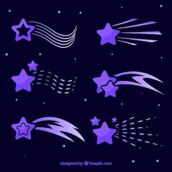 Pack de estrellas fugaz moradas