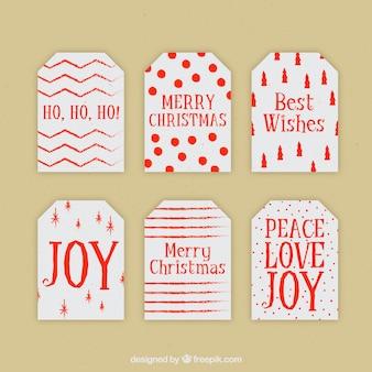 Pack de etiquetas bonitas de navidad para regalos