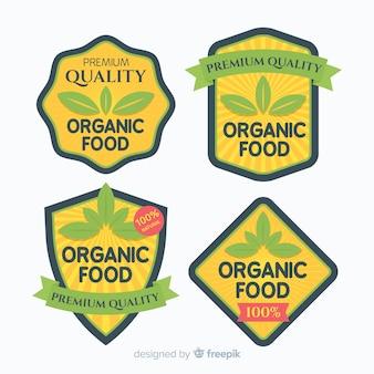 Pack etiquetas comida orgánica